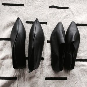 Zara Black leather shoes bundle 38 but true 8 8.5